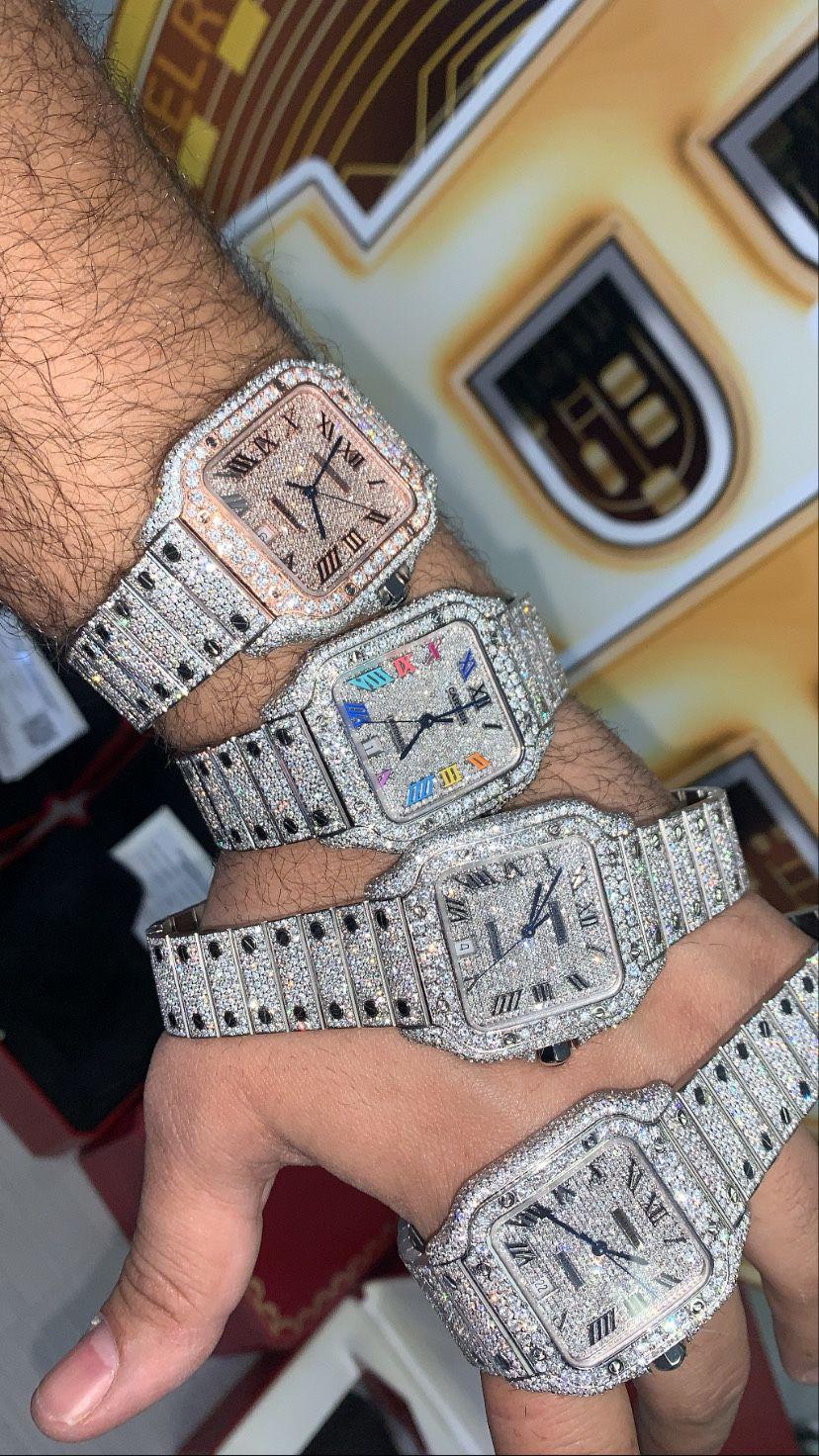 Cartier Santos XL Bustdown ❄️all Over 17.35CT Diamonds 2020