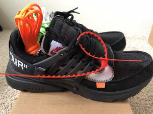 Nike Air Presto Off White all black for Sale in Charlotte, NC