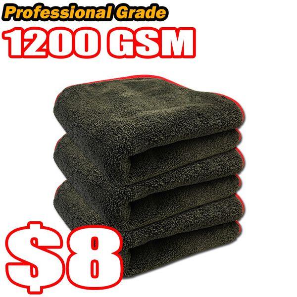 Premium Extra Thick 1200 Gsm Plush Microfiber Towels