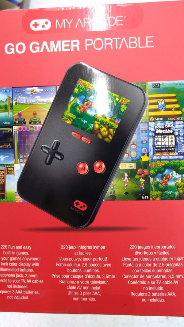 My Arcade Go Gamer Portable Gaming System Redblack For Sale In