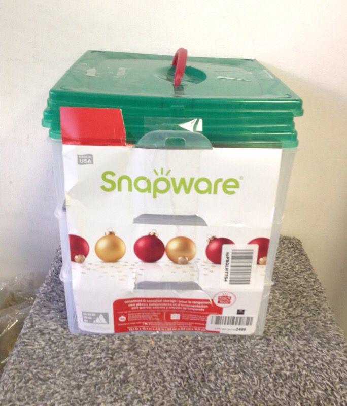 Snapware Snap N Stack Square 3 Tier, Snapware Ornament Storage