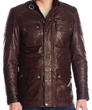 Boston Harbour lambskin leather jacket for Sale in Arlington, VA