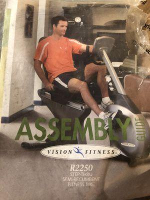 Photo Vision Fitness Recumbent Bike $50 ( $1700 retail)