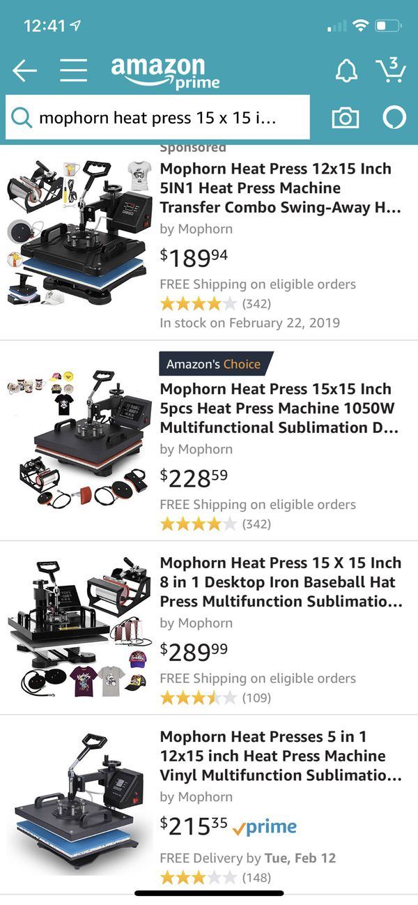 MOPHORN Heat Press 15x15 T-shirt, plate, mugs and caps fitting  for Sale in  Oakland, CA - OfferUp