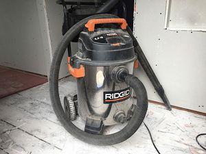 Photo RIDGID 16 GALLLON / 6.5 HP STAINLESS STEEL SHOP VAC