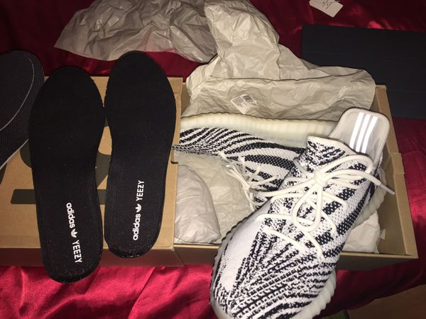 664cbf44bb4 Yeezy Zebra Size 13  Used Sole Protector  for Sale in Hayward