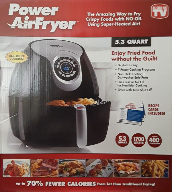 Power Air Fryer XL 5 3 QT 1700 Watts  Non Stick Coating, dishwasher safe   Brand New in box  for Sale in Hialeah, FL - OfferUp