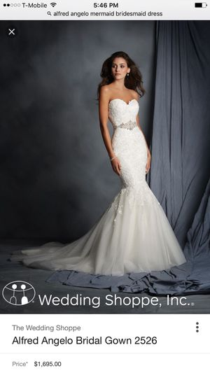 Alfred Angelo Wedding Dress Size 2 for Sale in MONTGOMRY VLG, MD