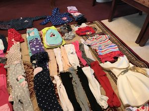All you need for 6-18 months girl clothes, jackets, shoe for Sale in Fairfax, VA