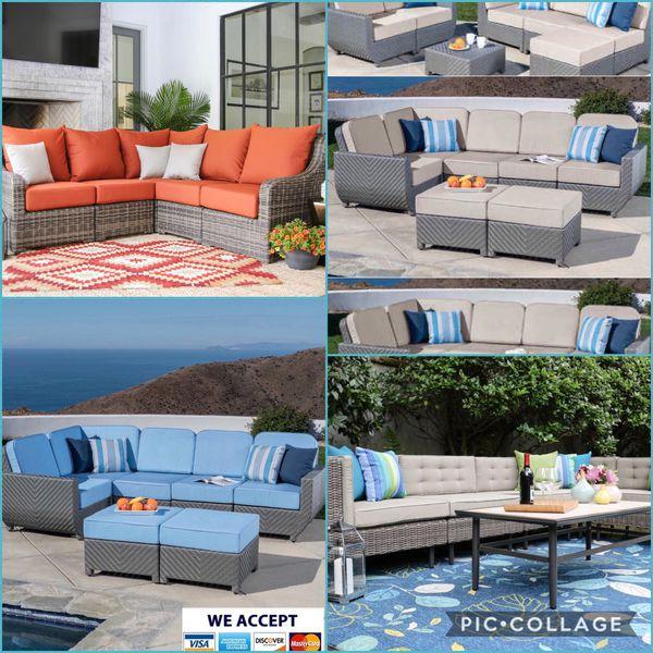 Patio Furniture Riverside California: Patio Furniture Set Sunbrella Cushions For Sale In