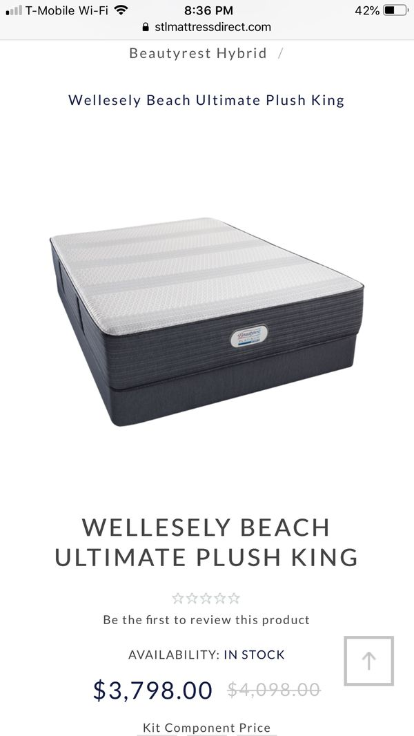Beautyrest Platinum Hybrid King Mattress