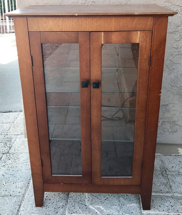 Wood Glass Shelf Lighted Display Cabinet For In Escondido Ca Offerup