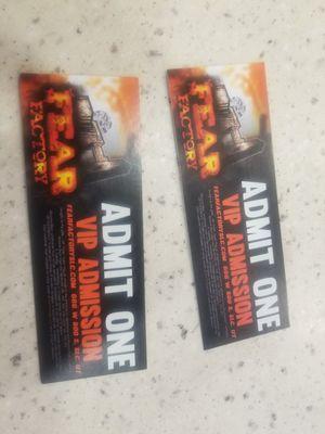 Fear factory ticket for Sale in Herriman, UT