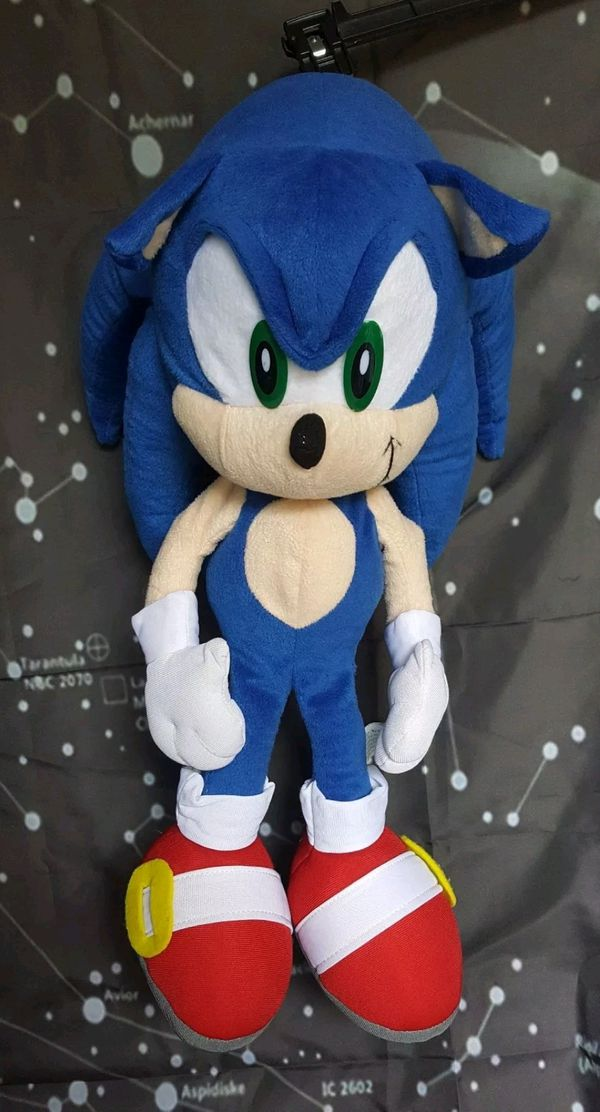 """Kids Play With Sonic Exe Toys And Super Sonic Exe Toys: 21"""" Sonic The Hedgehog Plush Styrofoam For Sale In Belton"""
