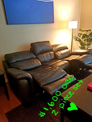 Like New w/ Tags - Electric Reclining Couch/Love Seat w/ubs ports for Sale in Phoenix, AZ