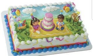 Dora cake topper decopac for Sale in Boston, MA
