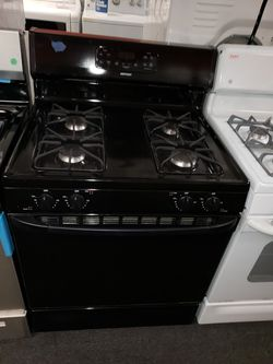 Hotpoint black gas stove in great condition Thumbnail