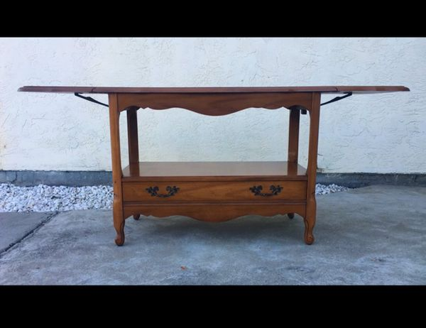 Vintage Maple Drop Leaf Side Coffee Table Sideboard Buffet Furniture In San Francisco Ca Offerup