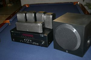 Yamaha HTR 3066 5.1 Channel Receiver, Speakers & Mounting Hardware for Sale in Glendale, AZ