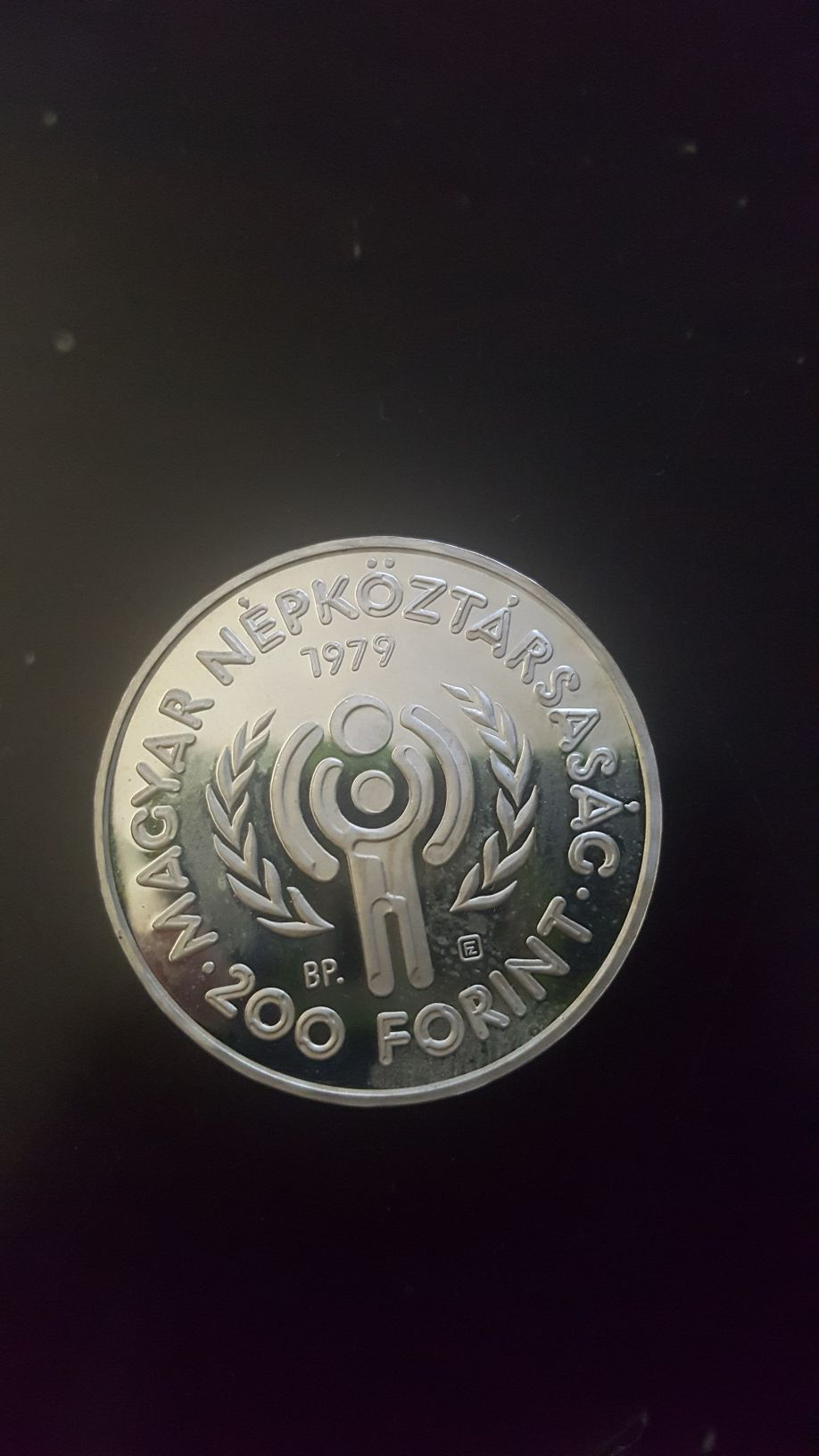 Hungary 200 Forint Silver Coin 1979 Year of the Child