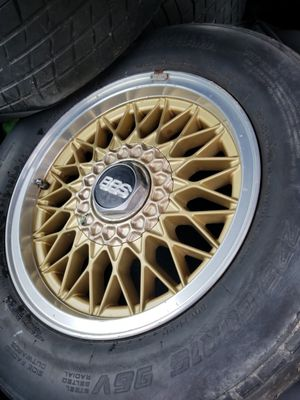 """BBS 15"""" wheels with center caps for Sale in Sterling, VA"""