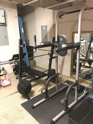 Olympic Bench Press, Squat rack, Pull up bar, etc.(Full body workout) for Sale in Orlando, FL