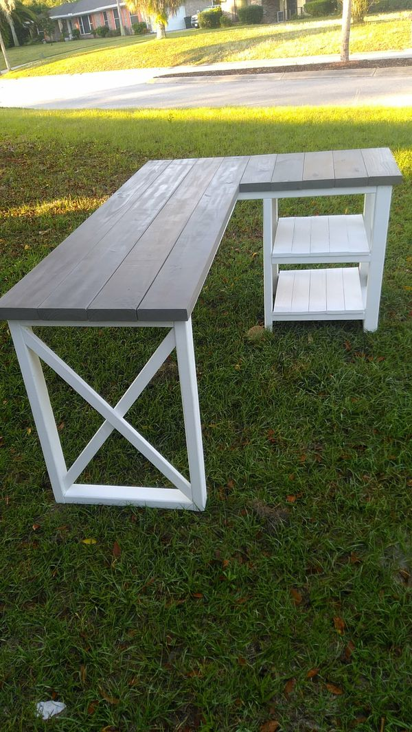 buy popular 18376 20a7b Farmhouse L shaped corner desk for Sale in Orange Park, FL - OfferUp