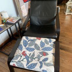 Poang Chair & Ottoman Ikea Thumbnail