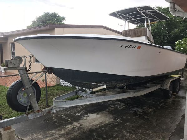 1973 Seabird 23 5 foot boat with small cabin 225 hp Yamaha and trailer for  Sale in Miami, FL - OfferUp