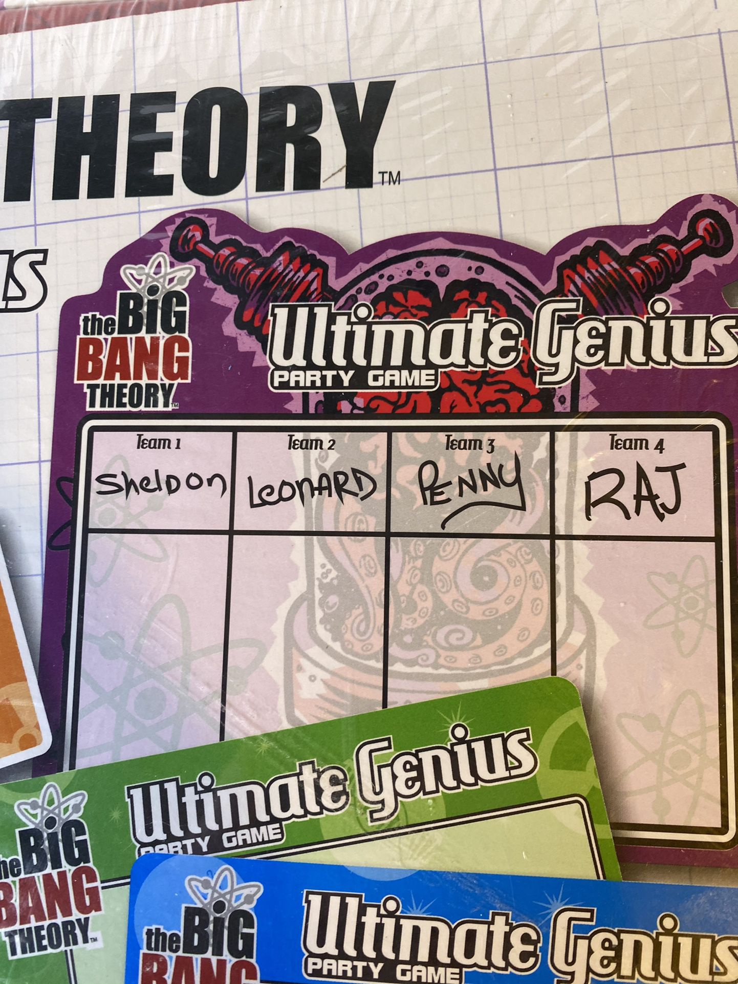 The Big Bang Theory Ultimate genius party Adult Board game Sealed
