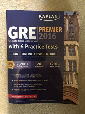 Kaplan 2016 GRE prep book for Sale in Portland, OR