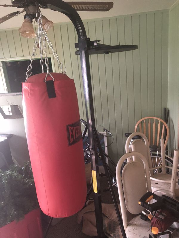 everlast boxing bag w stand speed bag attachment for sale in