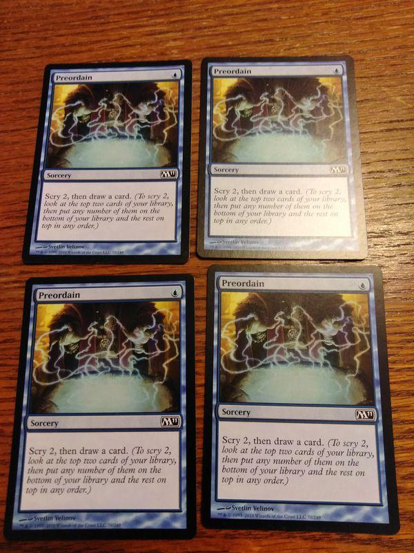 Preordain 4x Nm Mtg Magic The Gathering Magic Card For Sale In Las