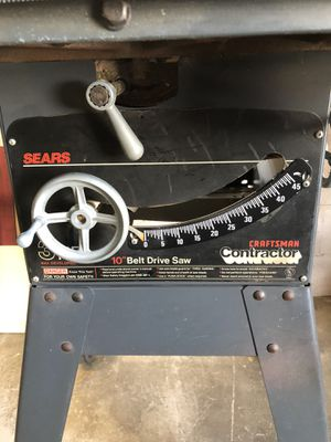 Photo Craftsman 3HP contractor 10 inch table saw.