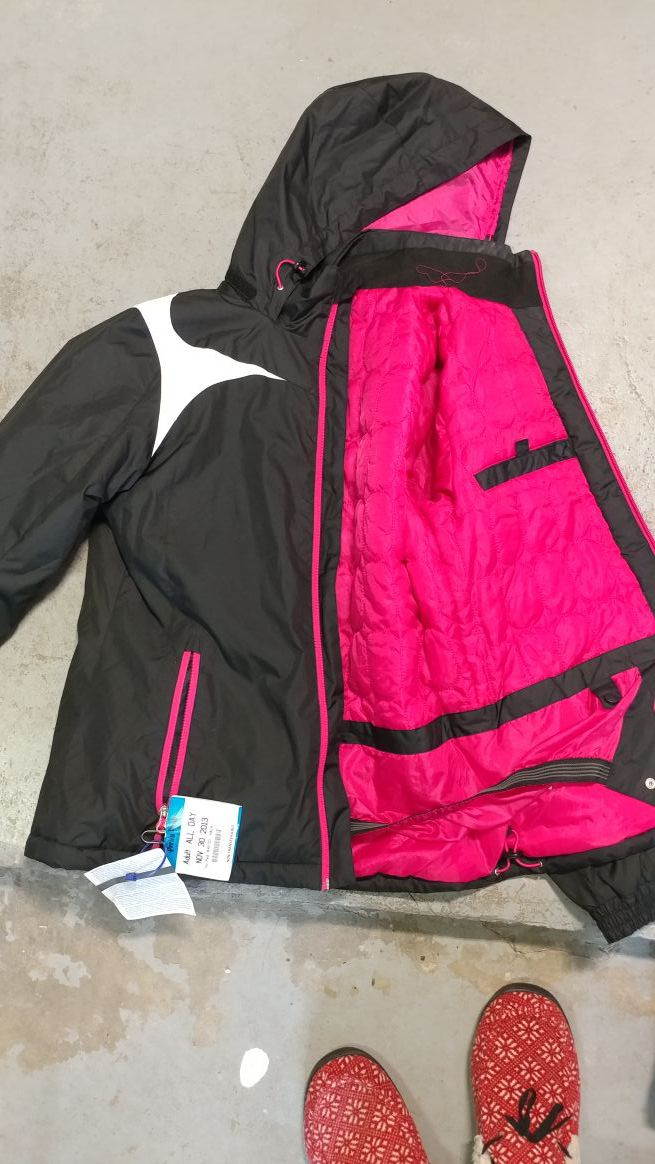 Snowboarding boots pants and jacket