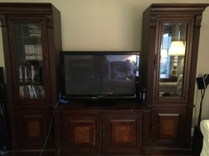 Brown Wooden Entertainment System for Sale in Oviedo, FL