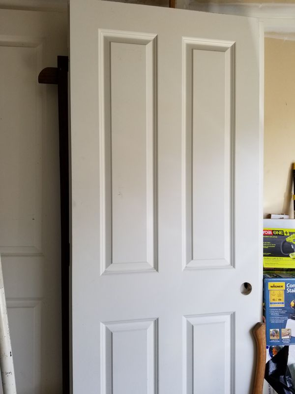 4 panel interior doors pre hung and painted white for - Pre painted white interior doors ...