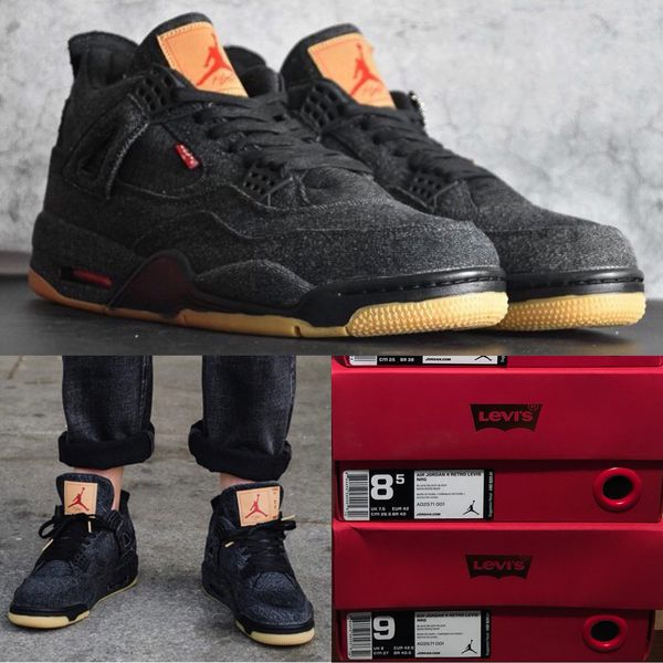 new concept d77f8 0ba65 NIKE AIR JORDAN 4 RETRO IV LEVI'S BLACK DENIM for Sale in Chicago, IL -  OfferUp