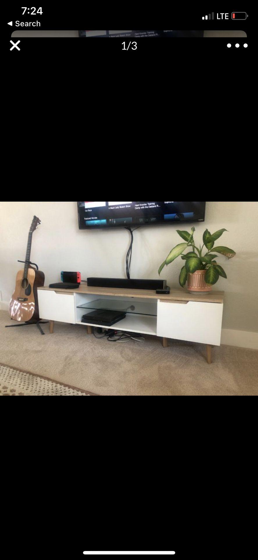 Mid century modern tv stand