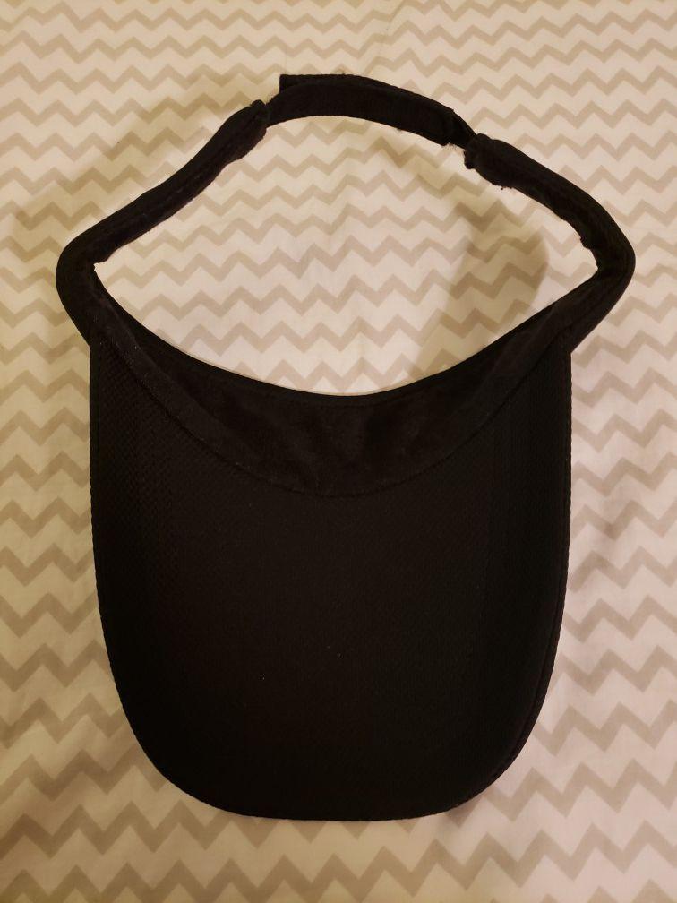 Black long visor hat