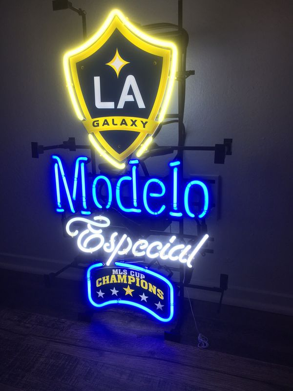 LA Galaxy Modelo beer neon sign for Sale in Chino, CA - OfferUp
