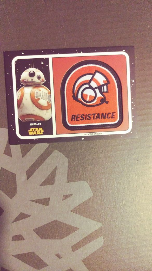 2018 Star Wars The Last Jedi Emblem Patch Featuring Bb 8 Rare Card No MP BB Collectibles In Boston MA