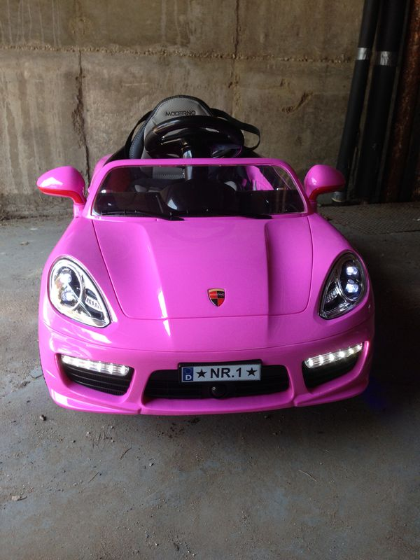 Pink Porsche Ride On Car With Remote Control