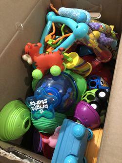 box of baby/toddler toys Thumbnail