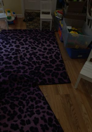 Rugs two pink and black leopard for Sale in Walkersville, MD