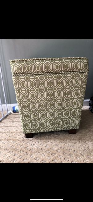 Green ottoman footstool with storage for Sale in Fairfax Station, VA