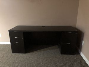 Black office desk for Sale in Bristow, VA