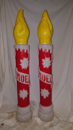 Set of Vintage Blow Mold Candles by Empire Noel Christmas Decor for Sale in Cary, NC