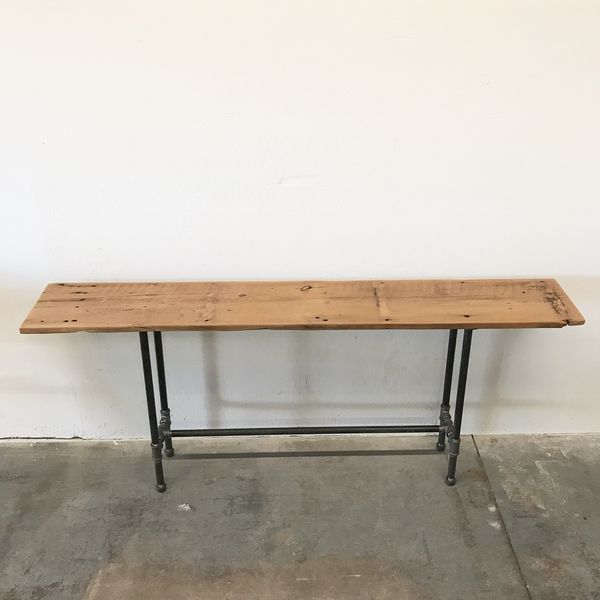 "Henry Reclaimed Wood Console Table 72"" Sofa Table Modern Rustic ..."