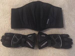 Motorcycle Protective Gear: Kidney Belt + Gloves for Sale in Southborough, MA